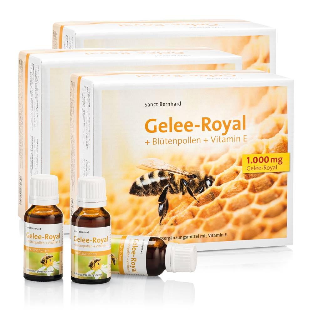 Gelee-Royal + Blütenpollen + Vitamin-E-Trinkflä...