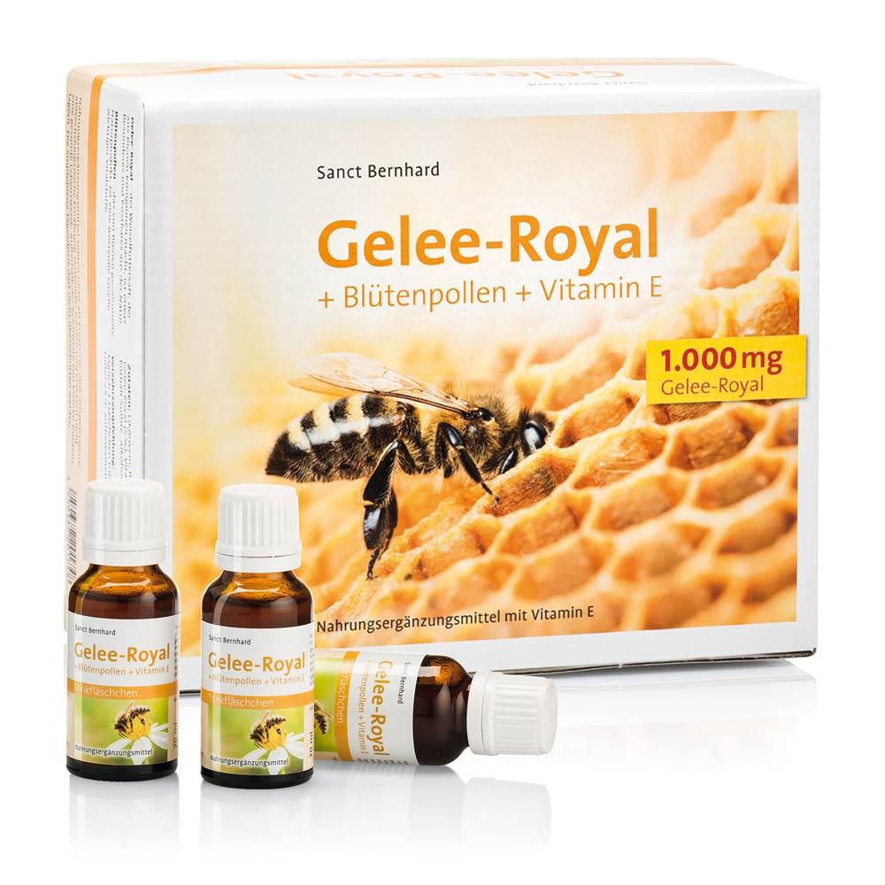 gelee royal bl tenpollen vitamin e trinkfl schchen kr uterhaus. Black Bedroom Furniture Sets. Home Design Ideas