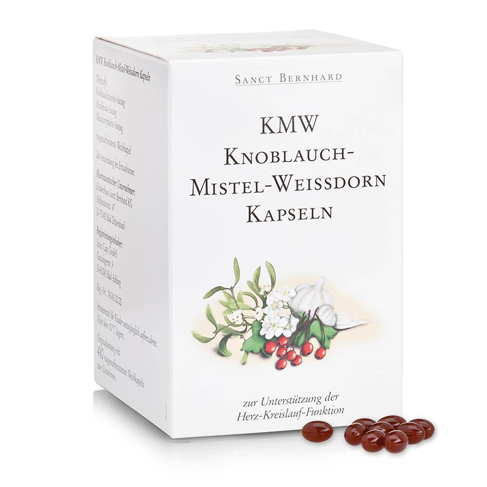 Kräuterhaus Sanct Bernhard KMW Knoblauch-Mistel-Weißdorn Kapseln