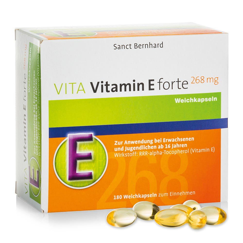 VITA Vitamin-E-forte-Kapseln 268 mg bei Kräuterhaus.de - Sanct Bernhard