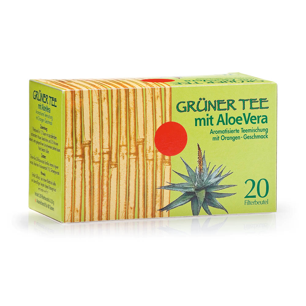 Grüner Tee mit Aloe Vera