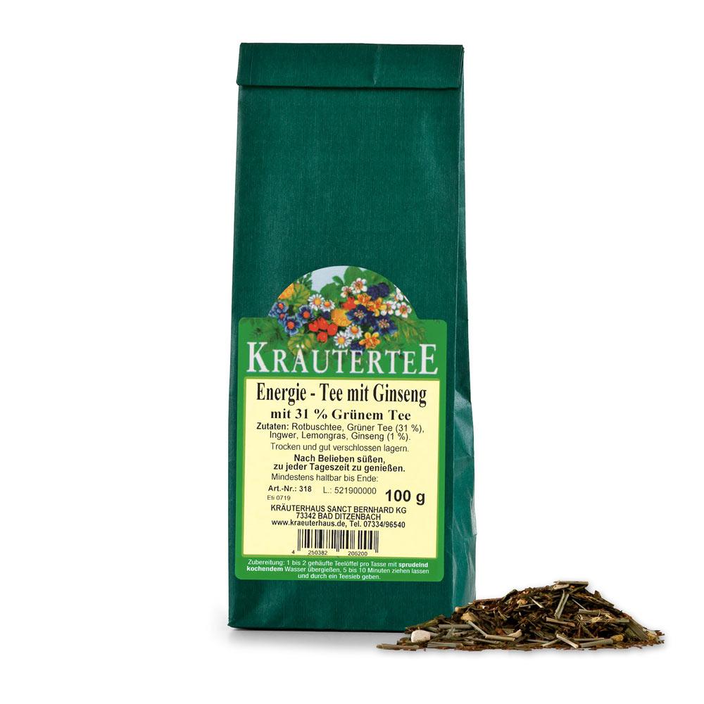 Kräuterhaus Sanct Bernhard Energie-Tee mit Ginseng 318