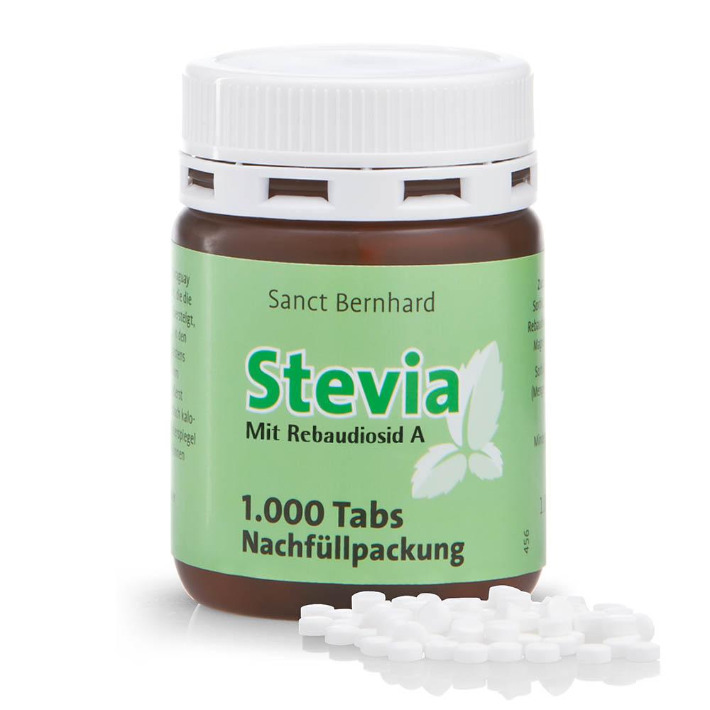 Stevia-Tabs - Nachfüllpackung mit 1.000 Tabs