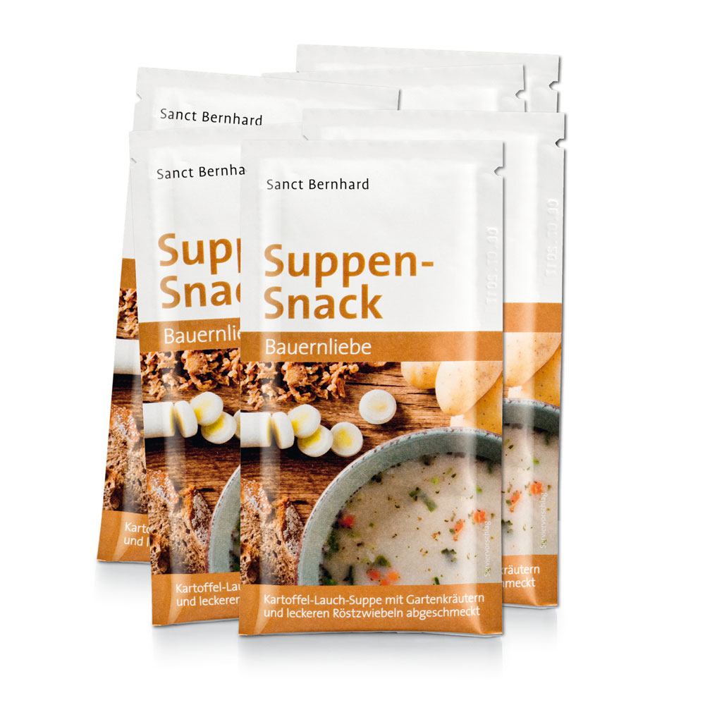 Suppen-Snack Bauernliebe 10er-Pack bei Kräuterhaus.de - Sanct Bernhard