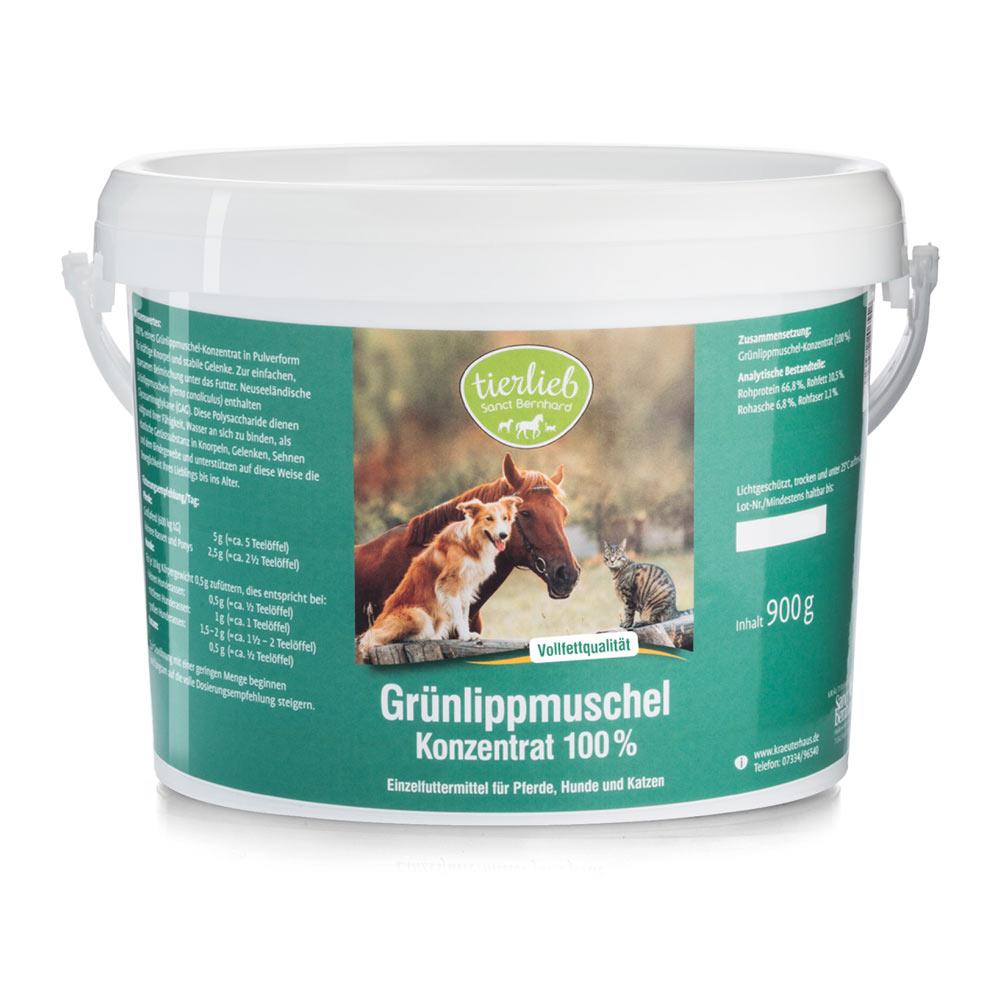 Grünlippmuschel-Konzentrat 100 % Einzelfuttermittel für Pferde, Hunde, Katzen