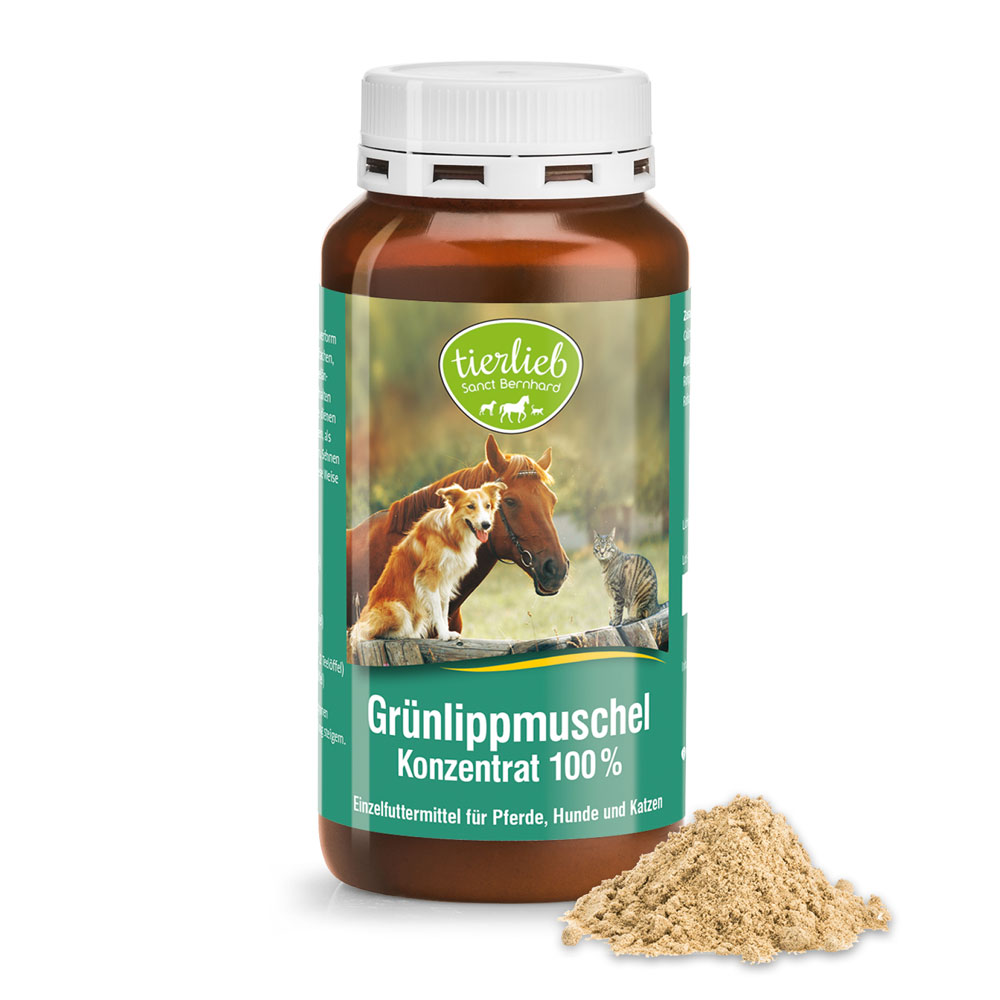 100 % green-lipped mussel concentrate for horses, dogs and cats