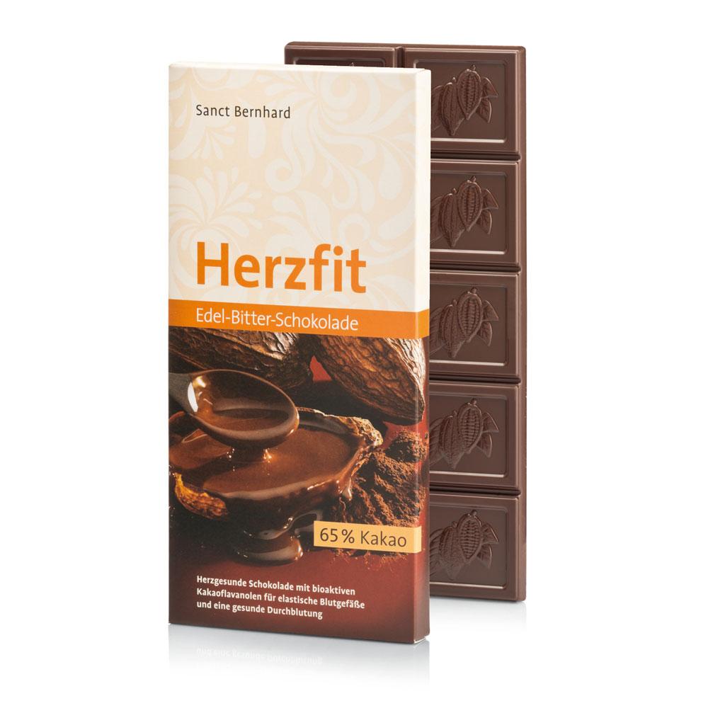 Herzfit Edel-Bitter-Schokolade 65 % Kakao